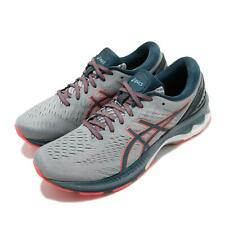 Asics Gel-Kayano 27 Grey Magnetic Blue Men Running Shoes Sneakers 1011A767-021