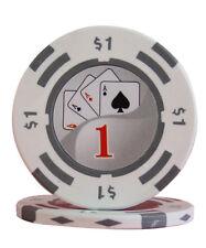 50pcs 14g Yin Yang Casino Table Clay Poker Chips $1
