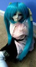 Doll Wig Long Pig Tails Dark Cyan Green Blue Miku BJD Size 7, 8, 9, 10 NEW