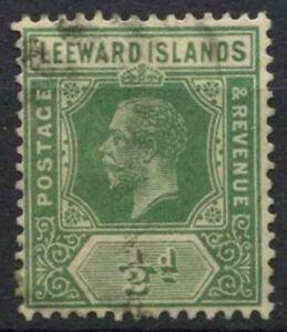 Leeward Islands 1912-22 SG#47, 1/2d Yellow-Green KGV Used #D10958