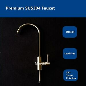 Premium SUS304 Lead-Free Tap Faucet RO Drinking Water Filter Ceramic Disc TPC04