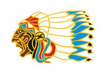 Sticker plastifié INDIEN Indian Warrio APACHES - Tribal Harley- 15cm x 9,5cm