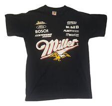 Miller Beer Winston Cup VTG 90s Black 2 Sided T Shirt Fruit of Loom Mens M USA