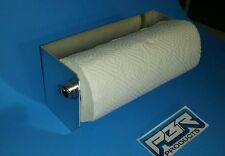 Aluminum Paper Towel  Rack Holder Shop Cabinet Race Car Enclosed Trailer NHRA