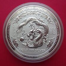 Australia 1 kilo kg Silver Lunar Series 1 Dragon 2000