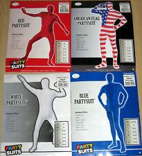 Halloween Kostüm Partysuit Gr. M, L, XL Karneval Fasching American Flag Blau Rot