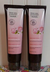 2 SEALED AHAVA DEAD SEA ESSENTIALS ROSE HAND CREAM 5.1 OZ X 2