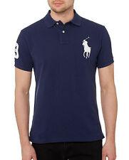 Ralph Lauren Polo Custom Fit Cotton Mesh Big Pony Shirt New $98