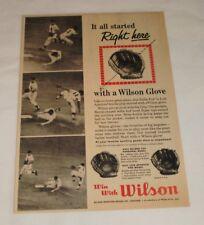 1960 Wilson baseball gloves ad ~ NELLIE FOX, LUIS APARICIO White Sox