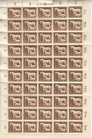 SALE Stamp Germany Sc B283 Sheet 1944 WWII 3 Reich Brown Ribbon Horse Munich MNH