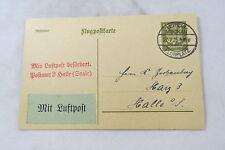 postkarte Germany Deutsches Reich Postamt Halle Saale Leipzig Mockau 1925