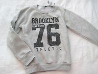 Brooklyn 76 New York Sweat Shirt Gr. 146 152 grau Pulli NEU