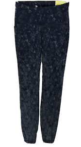 All In Motion Premium High Rise 7/8 Leggings Size XS Navy Blue Print Textured