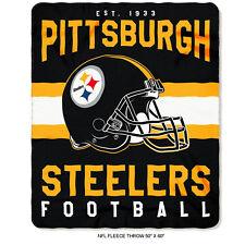 "New Northwest NFL Pittsburgh Steelers Soft Fleece Throw Blanket 50"" X 60"""