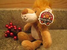 "CHELSEA TEDDY BEAR COMPANY PLUSH  TAN  CREAM LOVEY LION 9"" NWT"