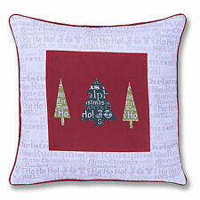 Catherine Lansfield Designer Christmas Slogans Red White 43x43cm Cushion Cover