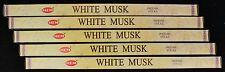 40 Sticks 5 Packs - WHITE MUSK - Home Fragrance Incense Scented Insence Bulk HEM