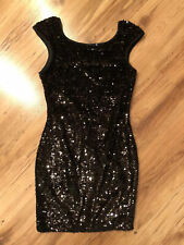 Dress By Lipsy with Sequin In Black, Size 10 UK.
