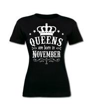 Queens Are Born in November Women's T-shirt. Birthday Girl, gift for her S-3XL