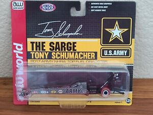 2017 Tony Schumacher US Army Top Fuel Drag RED CHROME CHASE 1/64 NHRA Autoworld