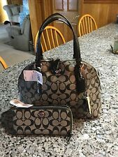 Coach peyton Signature Cora Domed Satchel and Matching Wallet. F24606 & F49964