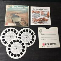 Vintage View-Master 3-Reel Set Glen Canyon Dam Complete Euc A310