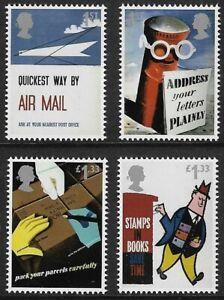 GB 2016 sg3802-3805 GPO Posters Royal Mail 500 Set Of 4 MNH