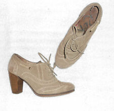 REPLAY low boots à lacets cuir daim beige  P 39 TBE