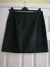 BNWT Topshop Tall Black Faux Synthetic Leather Mini Skirt UK Size 14