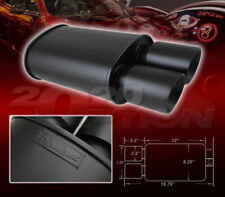DUAL DOUBLE-WALL SLANT TIP MUFFLER OVAL SPUN-LOCK TANK FOR TOYOTA VOLKSWAGEN VW