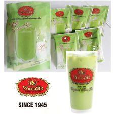 Thai Iced Hot Milk Green Tea Instant Powder 3 in 1 Thai Tea Number one Brand