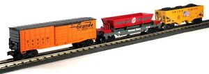 lionel 30128 Western Freight 3 car set D&RGW Box Car SP Dump Car & UP hopper new
