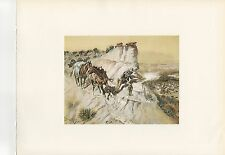 "1972 Vintage HUNTING ""BETTER THAN BACON, 1905"" ANTELOPE HUNTER Color Lithograph"