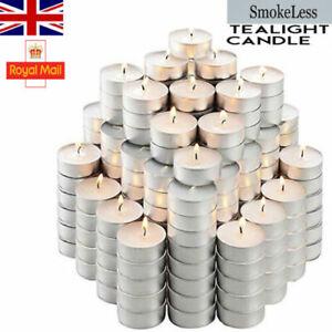 Tea Lights 6 Hour Long Burn Night Light Candles Unscented Tealights 25/50/100