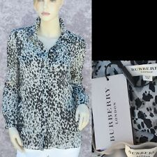 BURBERRY LONDON New sz 6 - 40 Auth $650 Womens Designer Silk Top Shirt Blouse