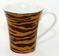 222 Fifth Porcelain Cup Mug PTS International Kilimanjaro Tiger Stripes EUC