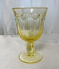 "Vintage Noritake Provincial Yellow Beverage Glass 4 5/8"" Wine /Juice Stem Goblet"