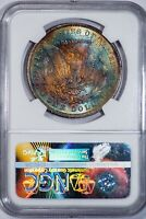 1880-O Morgan Silver NGC MS60 Tougher Date, Gorgeous Color-Toned Silver Dollar!