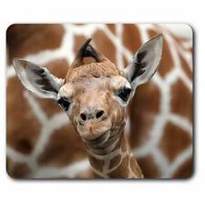 Computer Mouse Mat - Cute Baby Giraffe Face Wildlife Office Gift #12323