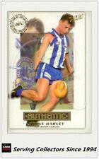 2001 Select AFL Authentic Card All Australia Team AA16 Brent Harvey(N.Melbourne)