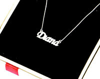 Personalised Name Necklace Pendant 925 Sterling Silver Any name Handmade UK Made