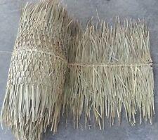 """30""""x 12 ft Comm Grade Palm Grass Thatch Ridge Roof Cap 4 Tiki Bar"""