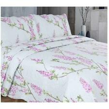 Vintage Shabby Chic Bedspread Set Comforter Quilted Throw Double Size 220x240 cm