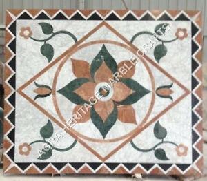 3'x2' White Marble Dining Center Table Top Handmade Inlay Art Garden Decor H4815