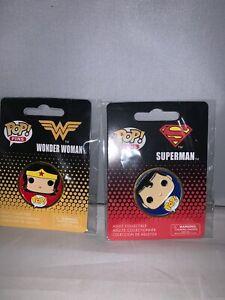 Funko Pop DC Comics Universe Superman Wonder Woman Pin Set-New