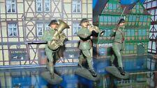 elastolin 7  cm 3 soldaten schweizer musiker weiter schritt