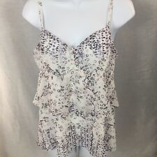 CAbi Style 272 On The Clock Tiered Spaghetti Strap Cami Tank Top Small S