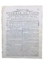 Lafayette et L'Amérique 1791 USA Constitution Frochot Goupil Tronchet Révolution