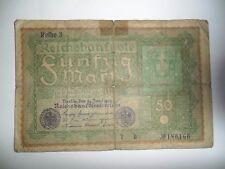 BANCONOTA 50 REICHSMARK GERMANIA 1919