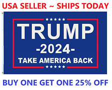 Trump 2024 Take America Back Flag Donald Maga Kag Republican Conservative Usa